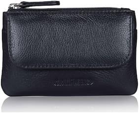 CALFNERO Men Leather Card holder - Black , Pack of 1