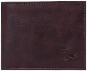 Calvin Jones Men's Leather Wallet (Dark Brown)