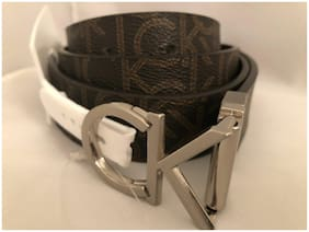 CALVIN KLEIN WOMEN'S TWIST REVERSIBLE BROWN CK BUCKLE BELT SIZE S/M/L/XL/1X/2X
