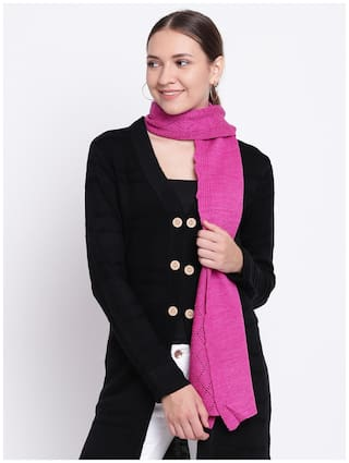 8c949416f Buy Cayman Women Wool Stoles - Pink Online at Low Prices in India ...