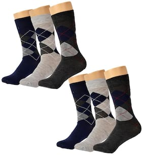 CH CRUX & HUNTER Multi Cotton Calf length socks ( 3 pairs )