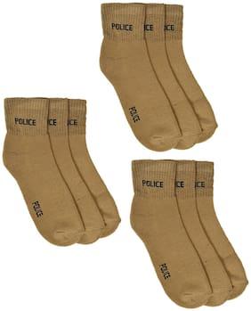 CH CRUX & HUNTER Beige Cotton Calf length socks ( 9 pairs )