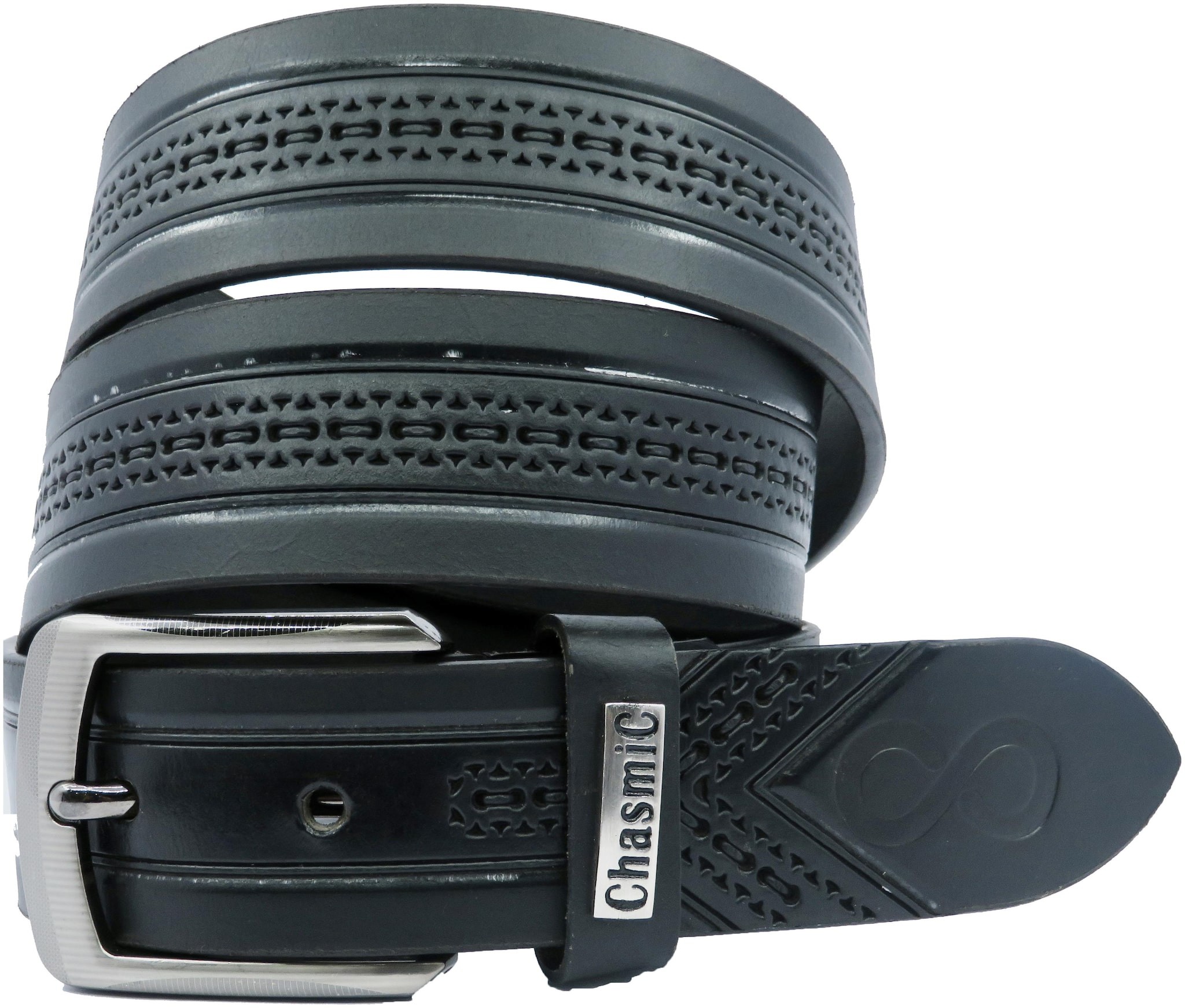 CHASMIC Men Casual, Party, Formal, Evening Black Genuine Leather Belt by Techchasmic India