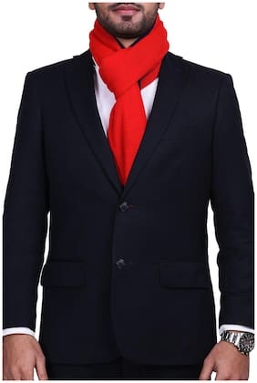 CHOKORE Two-in-One Men's Casual Red and Blue color Acrylic Woolen Muffler, Scarf & Stole for Winter