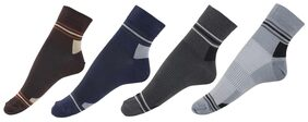 CJ15 Men Cotton Ankle Length Socks - Grey ( 4 )