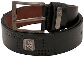 Classic Leather Black Belt with Square Buckle