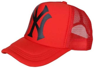d9bc68c5530 Buy Classy Printed RED Half Netted Baseball Cap Online at Low Prices ...