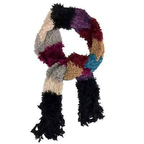 Colorful Womens Multi Texture Knit Winter Neck Scarf