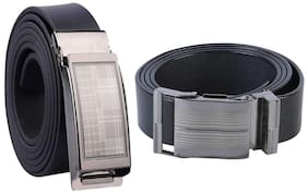 Combo Of 2 Winsome Deal Artificial Leather Belts For Men