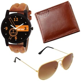 Combo of Watch + Wallet + Sunglasses