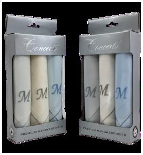 Concerto Assorted Cotton Handkerchiefs ( Pack of 2 )