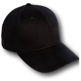 abbdf8f0755 Buy Cool Solid Black Baseball Cap Online at Low Prices in India ...