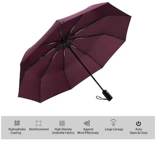 Cosmos English 2 Fold Umbrella Red