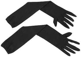Cotson Men's Bike & Activa Riding Summer Tanning Protection Gloves - Black (pack Of 1 Pair)