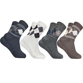 Cotson Multi Wool Crew length socks ( Pack of 4 )