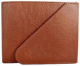 Crafts Men Pu Bi-fold Wallet - Tan (M-0004)