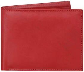 CRAFTWOOD Men Red Leather Bi-Fold Wallet ( Pack of 1 )