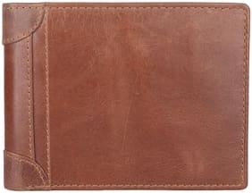 CRAFTWOOD Men Brown Leather Bi-Fold Wallet ( Pack of 1 )