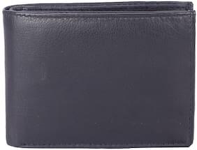 CRAFTWOOD Men Black Leather Bi-Fold Wallet ( Pack of 1 )