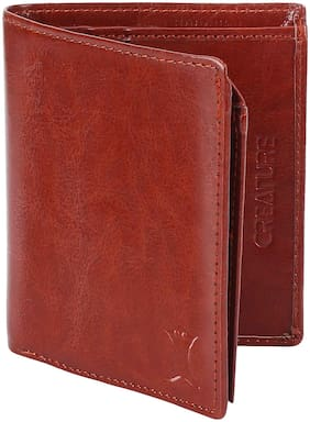 Creature Men Tan Pu Bi-Fold Wallet ( Pack of 1 )