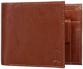 Creature Men Brown Leather Bi-Fold Wallet ( Pack of 1 )