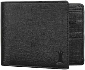 Creature Men Black Pu Bi-Fold Wallet ( Pack of 1 )