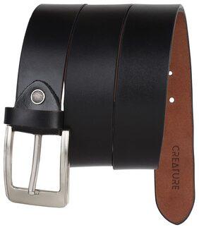 Creature Black Leather Party Belts
