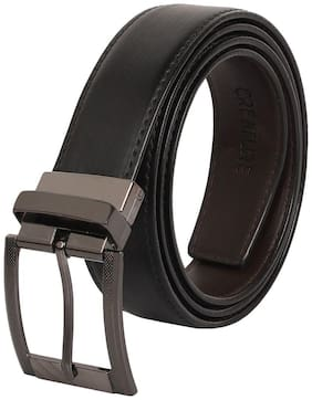 Creature Reversible Pu-Leather Black/Brown Casual/Formal Belt For Men
