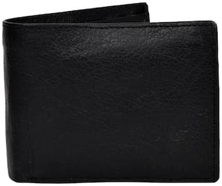 CH CRUX & HUNTER Men Black Synthetic leather Bi-Fold Wallet ( Pack of 1 )