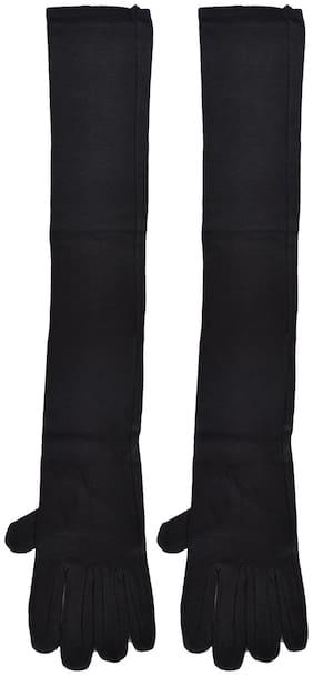 CH CRUX & HUNTER Women Cotton Gloves - Black