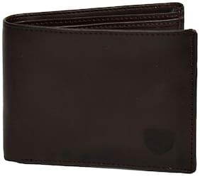 CH CRUX & HUNTER Men Brown Leather Bi-Fold Wallet ( Pack of 1 )