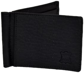 CH CRUX & HUNTER Men Leather Card holder - Black , Pack of 1