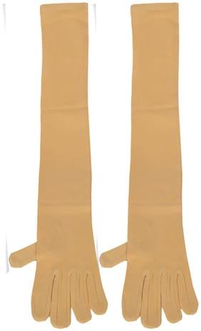 CH CRUX & HUNTER Women Cotton Gloves - Beige