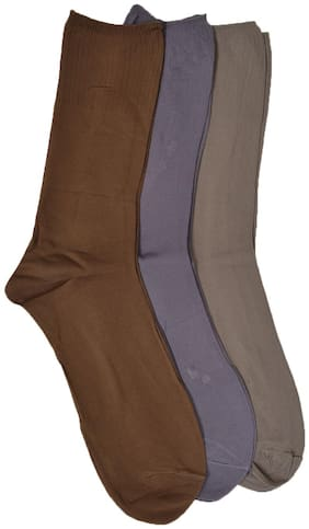 CH CRUX & HUNTER Assorted Cotton Ankle length socks ( Pack of 4 )