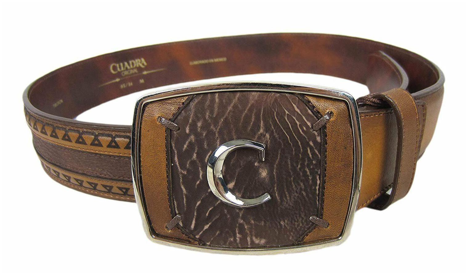 CVT21FP CVT21A1 Genuine Ostrich or Crocodile Cuadra Men Belt