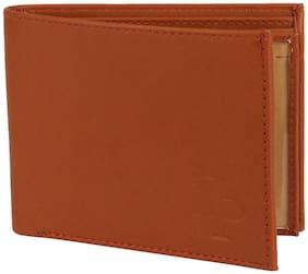 David Martin Men Tan Synthetic leather Bi-Fold Wallet ( Pack of 1 )