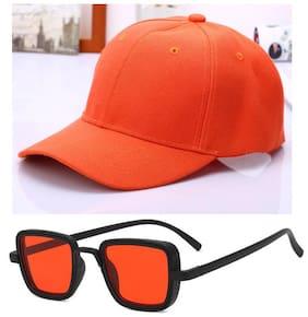 Davidson Combo of Cap and Kabir Singh Sunglasses