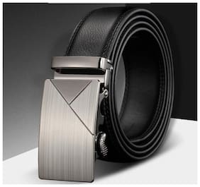 DAVIDSON Men Black Synthetic leather Belt (Size: 36 , Pack of 1 )
