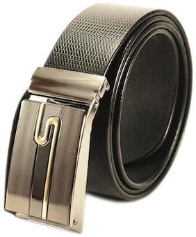 Derry dax Brand Genuine Leather Formal Auto Lock Black Belt - Auto-31