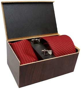 Designer Limited edition Neck tie, Pocket square and Cuff links set in pack of 3 by Mensome