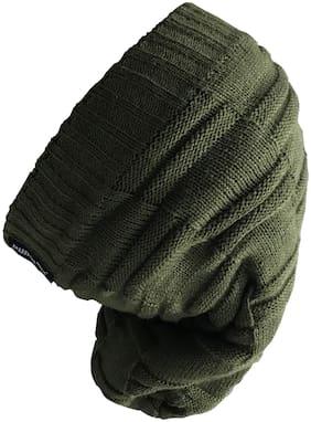 Unisex Wool Caps ( Green )