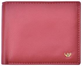 Men Leather Bi-Fold Wallet ( Red )