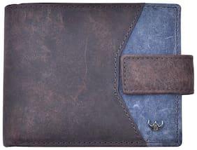 Leather Bi-Fold Wallet ( Brown )