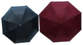 Dizionario Black & Maroon 3 Fold Umbrella (Pack of 2)