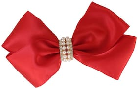 Dolly jewels Red Colour Hair Bow Rubber Band For Girl & Women
