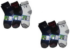 Double Horse Multicolor 6 Pair Of Socks