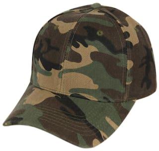 f0cd1193f84cf DRUNKEN Men s Army Military Camouflage Plain Velcro Baseball Cap For  Hunting