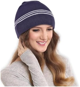 Women Acrylic Caps ( Blue )