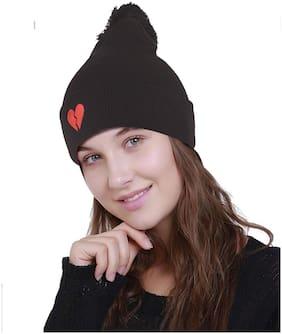 Women Acrylic Caps ( Black )