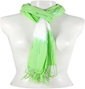 Dushaalaa Women Cotton Scarves - Green